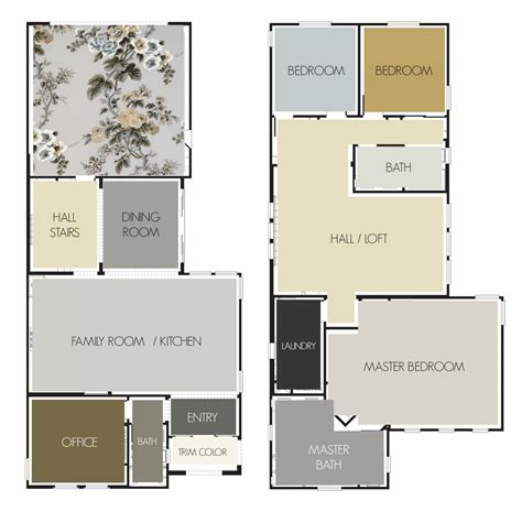 gray and gold paint palette laurel home