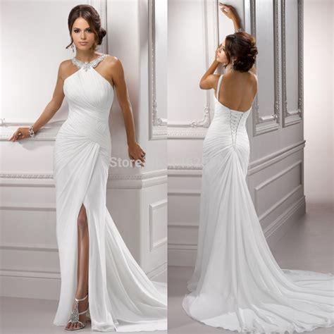 Halter Top Beach  Ee  Wedding Ee    Ee  Dresses Ee   Bestwedding M