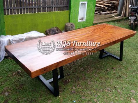 kaligrafi by furniture shop meja kayu trembesi kaki besi terbaru mebel jepara shop