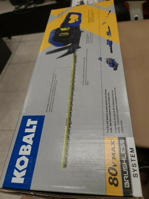 """You are always going to have problems relaying on hired helped for trimming you lawn. Kobalt 80V MAX Brushless Cordless Hedge Trimmer 26"""" w/Battery & Charger NEW!! 