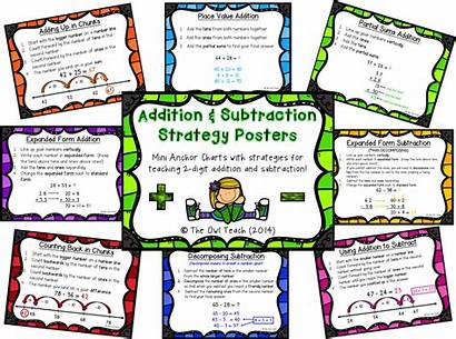 Addition Subtraction Strategies Strategy Posters Owl Teach