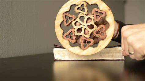 wooden  circular planetary gear fidget spinner youtube