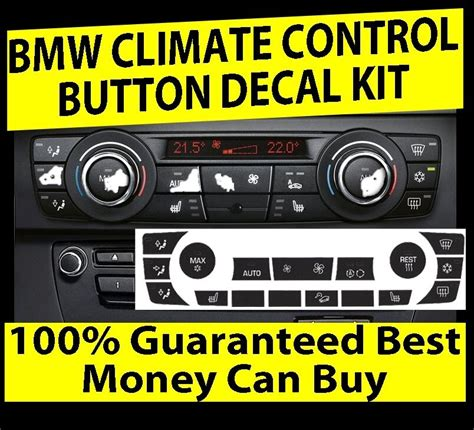 bmw ac climate control button knob overlay stickers repair