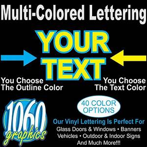 3quot multi colored vinyl lettering door window car truck With colored vinyl letters