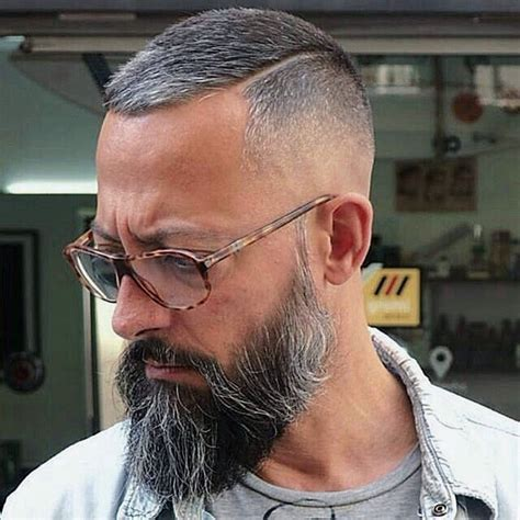 Crewcut Haircuts For Men Grey Hair Fade Mens Hairstyles