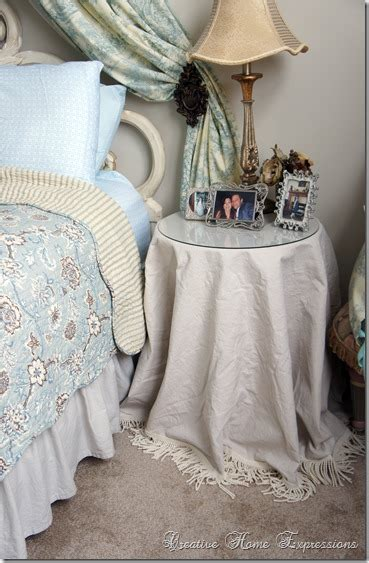 Bedroom Table Skirts by Creative Home Expressions Table Skirts For The Master Bedroom