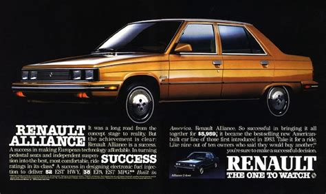 1983 renault alliance usa 1980 1985 the last time the french really tried