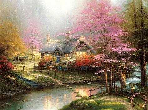 Thomas Kinkade Stepping Stone Cottage painting - Stepping ...