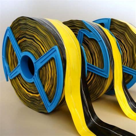 absperrband gelb schwarz absperrband gelb schwarz mit fadenverst 228 rkung 250m 80mm harold shop
