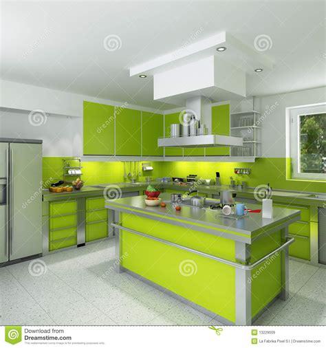 cuisine verte cuisine verte moderne images libres de droits image