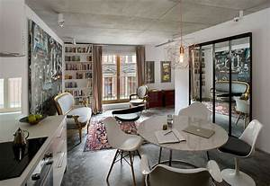 small ingenious apartment in poland draped in eclectic With decoration salon style romantique