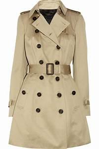Trench Coat Burberry Homme : burberry prorsum cotton sateen trench coat in beige trench lyst ~ Melissatoandfro.com Idées de Décoration