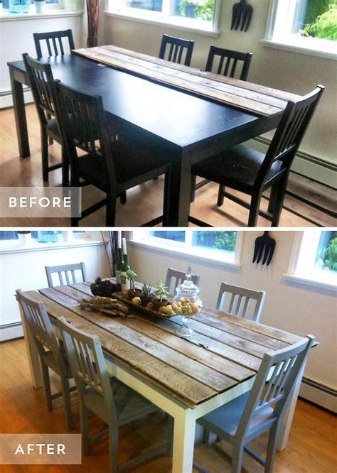 transformer une table de cuisine 8 façons simple de transformer une table à manger diy