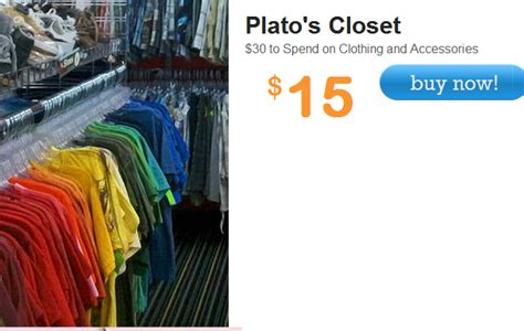 10 or 15 for 30 worth of clothing from plato s closet