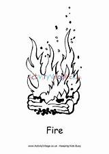 Fire Colouring Pages Activityvillage Activity Village Explore sketch template