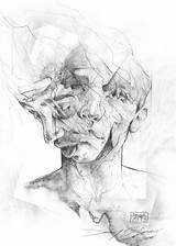 Drawing Paper Copy Challenge Drawings Doc Deviantart Danny Crumpled Faces Overlapping Illustration Connor Flickr Sketches Figure Portrait Pencil Portraits Painting sketch template