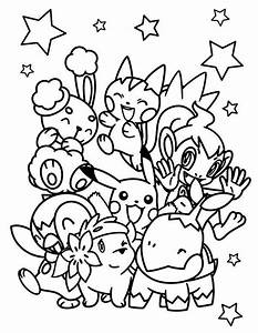 Pokemon All Character Coloring Pages Sketch Coloring Page