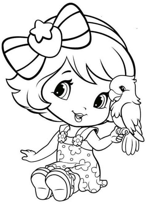 Strawberry Cherry And Lemon From Strawberry Shortcake Coloring Pages