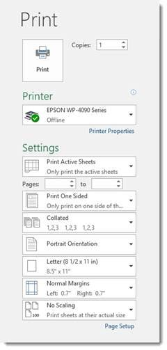 how to print worksheets and workbooks in excel 2016 universalclass