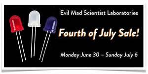Fourth of July Sale | Evil Mad Scientist Laboratories