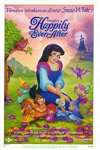 HAPPILY EVER AFTER MOVIE POSTER 27x40 Inch SNOW WHITE FILM ...