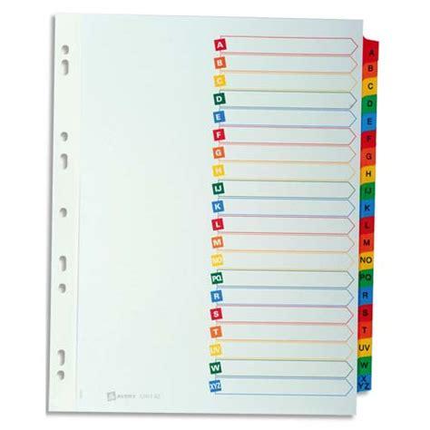 mobilier de bureau informatique avery répertoire alphabétique 20 touches en carte