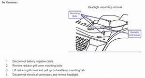 How Do I Remove The Headlight Assembly On A 07 Kia Spectra Sx