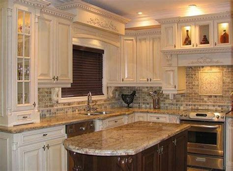 kitchen countertops and sinks white cabinets with grey tile backsplash and wood 4319