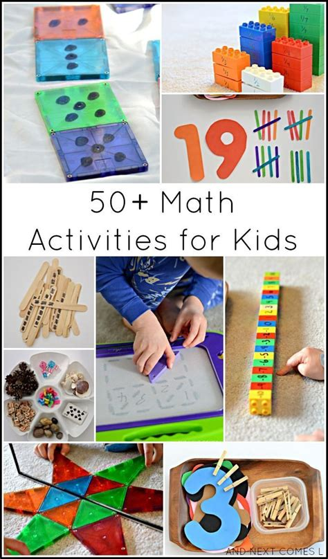 guest post 50 creative math activities for 325 | 62d4b25307e2f9c6b64acb4d852479e0 indoor activities learning activities