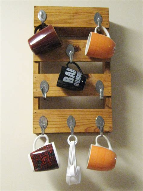 Perfect wedding shower gift for coffee lovers! DIY Coffee Stained Mug Rack | Make Something Mondays!