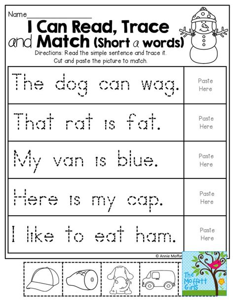 I Can Read, Trace And Match Short A Words! Tons Of Handson And Effective Printables! K1