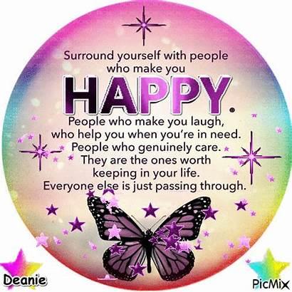 Surround Yourself Happy Saying Picmix