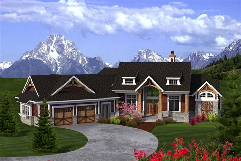 bed craftsman ranch ah architectural designs house plans
