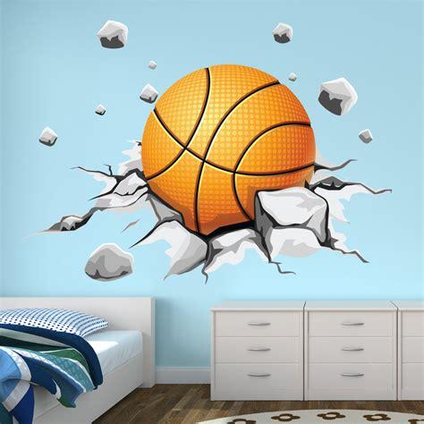 deco chambre basket stickers ballon de basketball pas cher