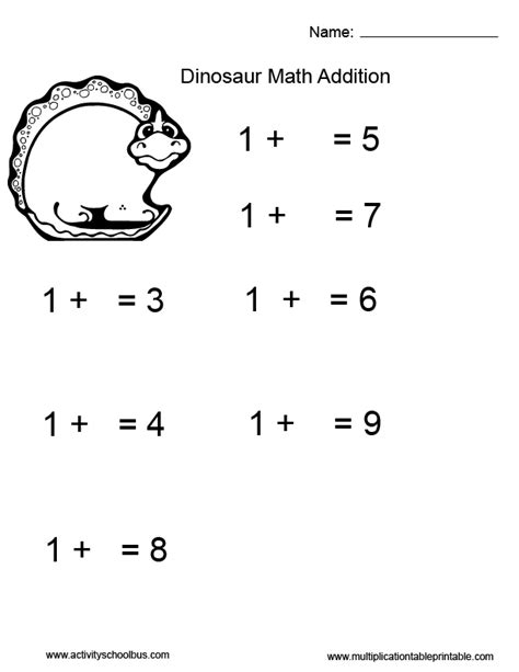 first grade math worksheets dinosaurs addition