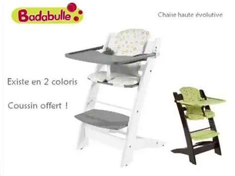 badabulle chaise haute oclio chaise haute évolutive by badabulle