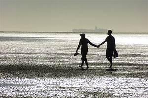 Hand In Hand Gehen : paar am strand hand in hand abendstimmung fotografie von stefan wensing ~ Markanthonyermac.com Haus und Dekorationen