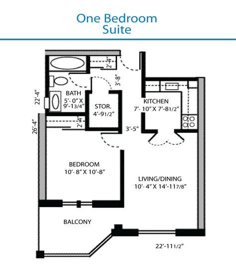 Floor Plan of the One Bedroom Suite