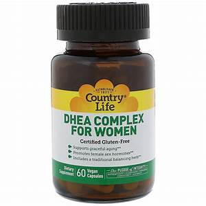Country Life  Dhea Complex For Women  60 Vegan Capsules