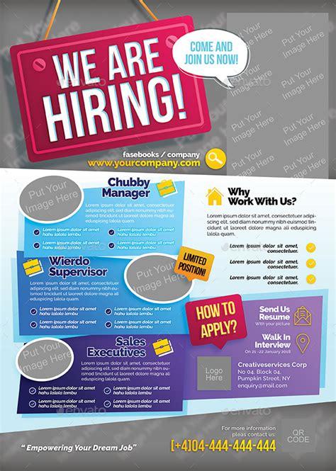 job vacancy flyer  shamcanggih graphicriver