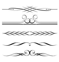 decorative elements border  page rules stock vector