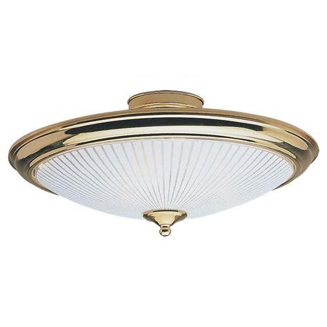 sea gull lighting 3 light polished brass semi flush