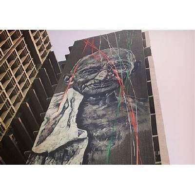 Street art Gandhi takes over Police HQArtAgenda