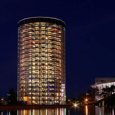 amazing vw germany volkswagen s car towers at autostadt in wolfsburg germany