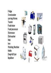 english worksheets electrical equipment   kitchen