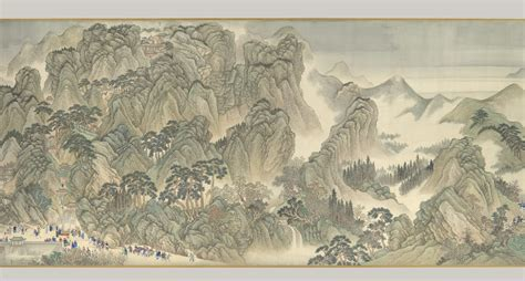 kangxi emperors southern inspection  scroll