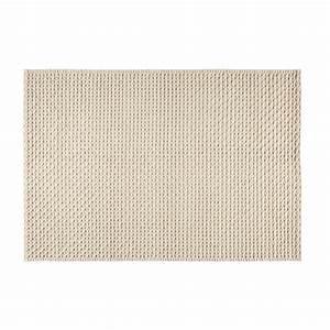 Teppich Aus Wolle : teppich aus wolle und baumwolle ecrufarben 140x200cm mojave maisons du monde ~ A.2002-acura-tl-radio.info Haus und Dekorationen