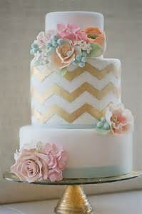 gold wedding cake wedding cakes pictures chevron wedding cakes