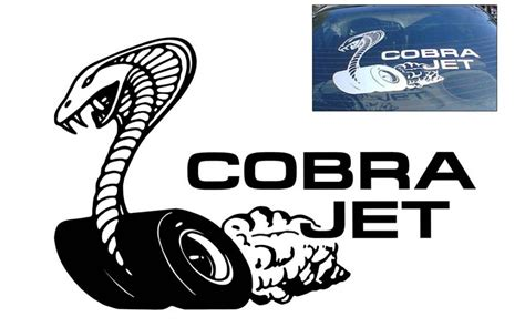 Mustang Cobra Jet Logo by Graphic Express Mustang Cobra Jet Decal 16 Quot X 24 5 Quot