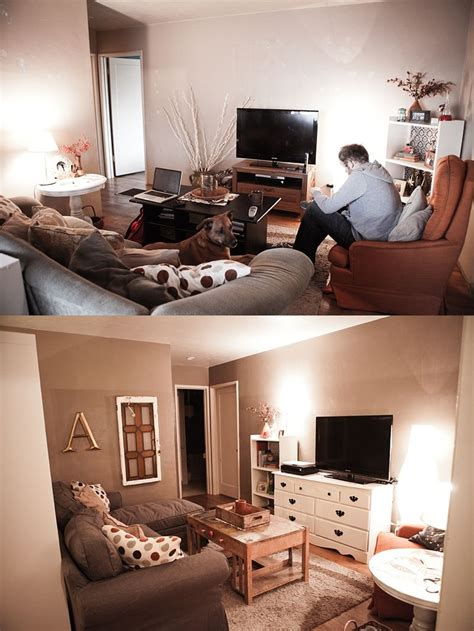 beforeafter small living room design home